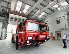 Defence fire station R G Carter