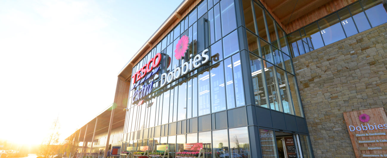 tesco and dobbies garden centre kings lynn