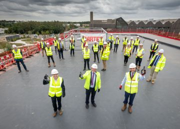 Norwich Research Park topping out R G Carter