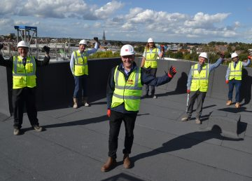 Canary Quay Topping out R G Carter