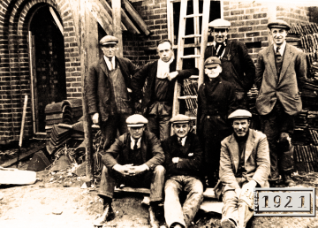 The R G Carter site team at The Constitution in the 1930's