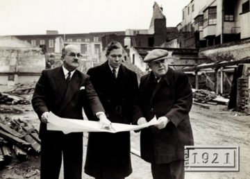 Norwich Union demolition 1958 with R G Carter