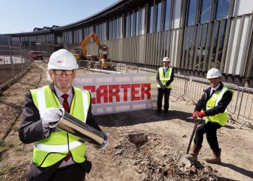 Time capsule at Alconbury Weald CCC headquarters with R G carter