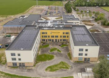 Mildenhall Hub drone image