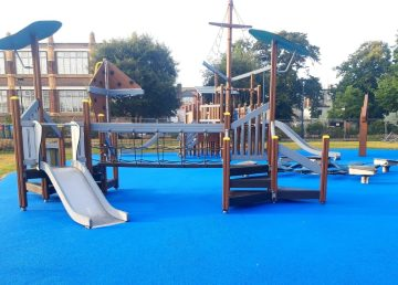 Play Area St Georges Park Greta Yarmouth installed by R G Carter