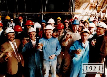 R G Carter topping out at Theatre Royal in 1991