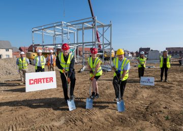 Grace Cook Primary school starts on site with R G Carter