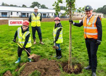 Duke of Lancaster School tree planting with R G Carter